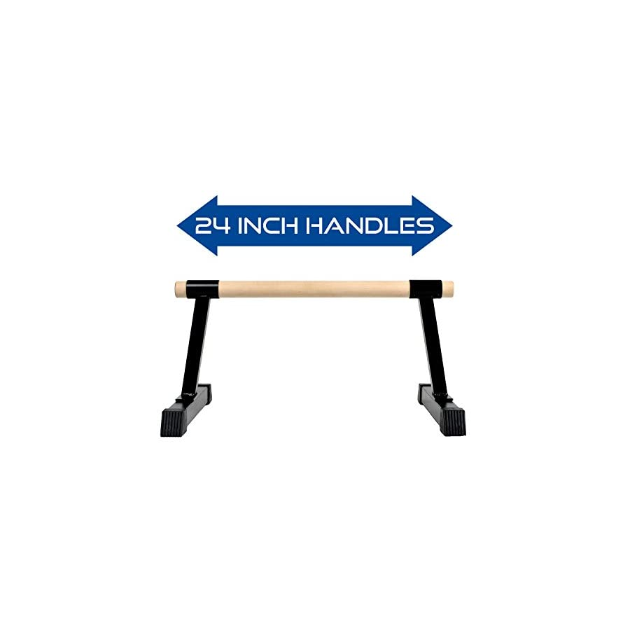 Ultimate Body Press Wood Bar Parallettes 12x24 Inch