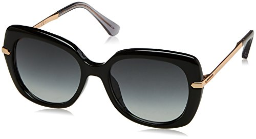 Jimmy Choo Women's Ludi/S Black/Gold/Copper/Dark Gray Gradient Lens - Name Glasses Brand