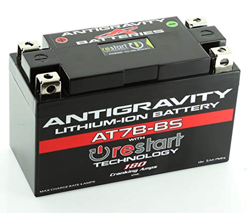 Antigravity Batteries AT7B-BS RS Lithium Ion Battery w/BMS and Re-Start Technology - Fits All Ducati Panigale Models - Replaces YT7B-BS, YT9B-BS