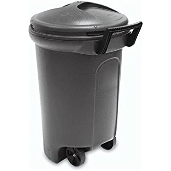 United Solutions TrashMaster 32 Gallon Wheeled Trash Can with Turn & Lock Lid