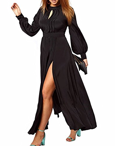 long black pleated dress - 2