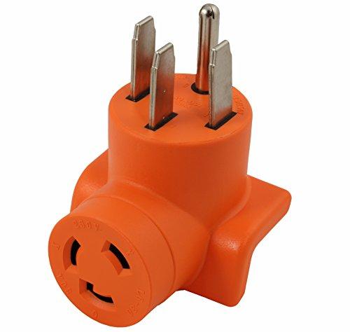 AC WORKS [AD1450L630] Locking Adapter Generator/ RV/ Range 14-50P Plug to L6-30R 3Prong 30Amp 250Volt Locking Female Adapter