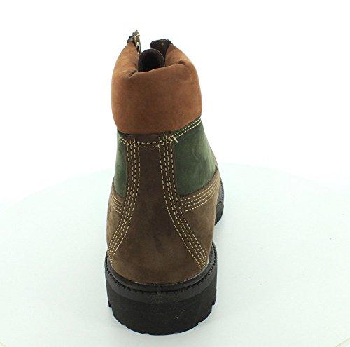 Timberland Mens Icon Botte Premium Marron / Vert De 6 Pouces - 7.5
