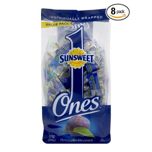 Sunsweet Individual Pitted Prunes Value Pack, 12 oz- Pack of 8 by Sunsweet