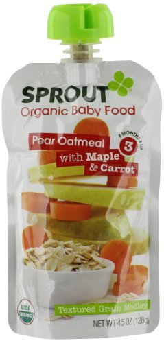 Sprout Organic Baby Food Pear Oatmeal with Maple & Carrot 3