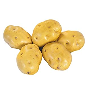 Artificial Potatoes Lifelike Fake Potatoes Simulation Vegetable Home Kitchen Decoration 5pcs 12