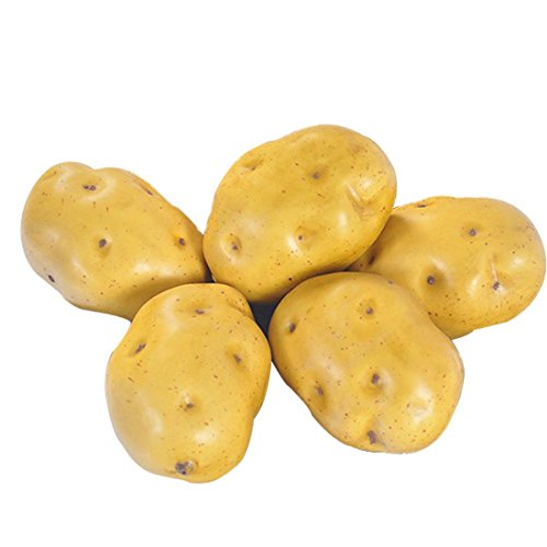 Artificial Potatoes Lifelike Fake Potatoes Simulation Vegetable for Home Kitchen Decoration 5pcs by Lorigun