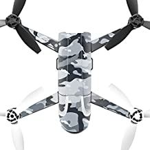 MightySkins Protective Vinyl Skin Decal for Parrot Bebop 2 Quadcopter Drone wrap cover sticker skins Gray Camouflage