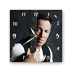 Exclusive Clock Bruce Springsteen - Unique Item for Home and Office, Original Present for Every Occasion.