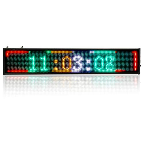 Display Scrolling Message Led Sign - P5 Led Sign WiFi Board Scrolling Programmable Display Message Rolling Information for Business, Working with Smartphone and Tablet - Multi Color