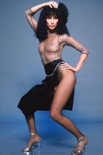 Cher in See Thru Top & Revealing Skirt 11x17 Mini Poster