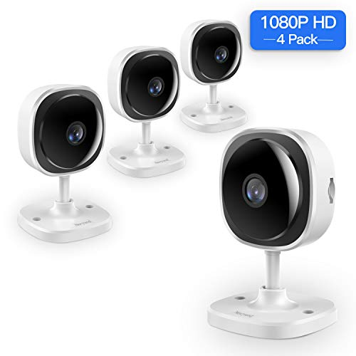 ([Full HD] 1080P Wireless Security Camera,NexTrend 180 Degree Panoramic IP Camera Two-Way Audio, Motion Detection,Cloud Storage,Night Vision for Home/Office/Baby/Pet Monitor,Work on Phone,PC-4 Pack)