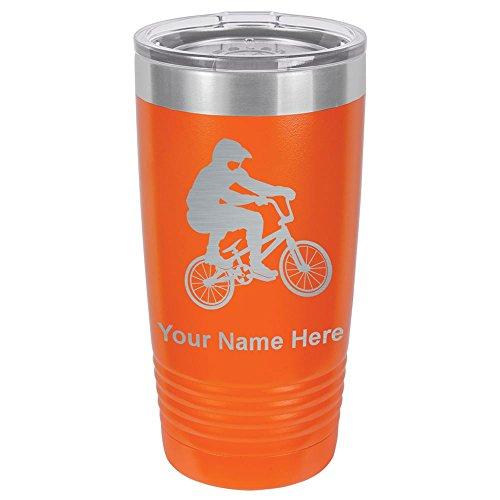 20oz Tumbler Mug, BMX Rider, Personalized Engraving Included ()