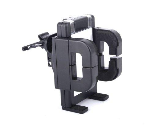 DURAGADGET Shock Resistant Rotating Car Cradle With 12V Charger For BLU Advance 4.5 / Zen Mobile Ultrafone 502 / Zen Mobile Amaze 701FHD / Pantech Vega Iron 2 / Blue Vivo 4.8 HD / HP 8 / Panasonic P31 / Plum Axe II / Zen Mobile 303 Power / Zen Mobile 102 ()