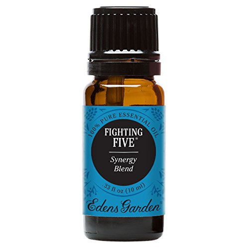 Edens Garden Fighting Five 10 ml Pure Therapeutic Grade Essential Oil Synergy Blend GC/MS Tested