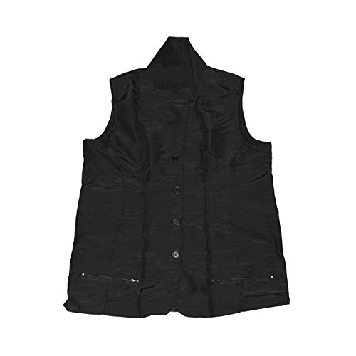 (A Size Above Big & Tall Vented Mesh Back Barber Vest, Black, 2X)