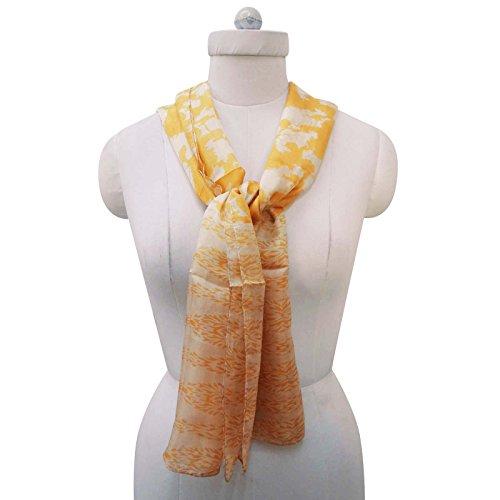 Sobre Envoltura larga Bufanda seda amarillo usted verano Dise ador Bufandas con borla 20 70 de de de x pulgadas lunares Impreso rwznqrg48x