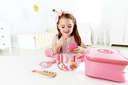 Award Winning Hape Beauty Belongings Kid's Wooden Cosmetics Pretend Play Kit