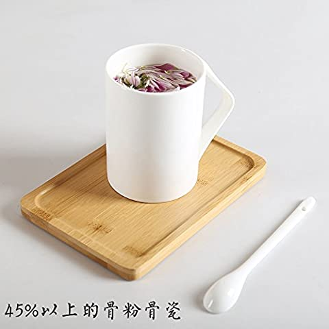 MH-RITA Creative Ceramic Cup Large Capacity Glass Simple Bone China Mug Cup With Lid Cup Scoop Of Coffee Lovers I