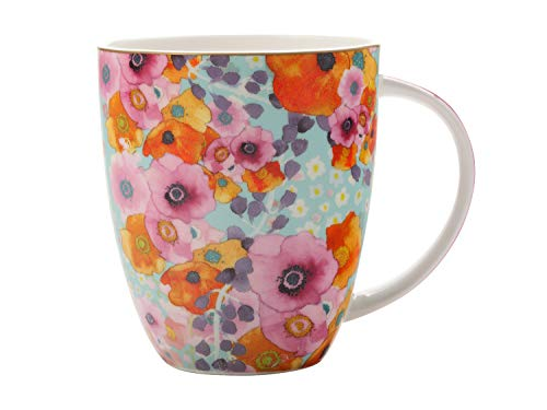 (Maxwell & Williams CashmereBone China Bloems Coupe Coffee Tea Mug Cup in Blue 13.5 flozl)