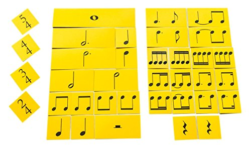 Age Note Cards - NotePerfectProject Rhythm Cards Elementary Time. Writable, Wipe-Clean Flash Cards.