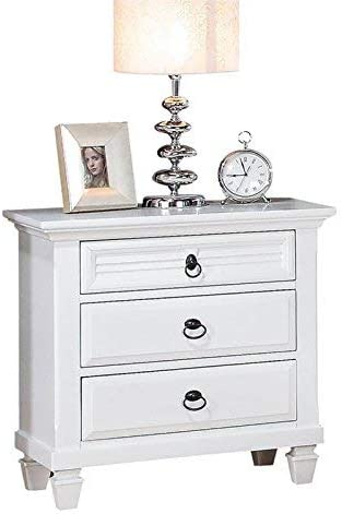 Acme Furniture 22423 Merivale Nightstand, White, One Size