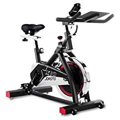 JOROTO X1S Professional Indoor Exercise Bike User capacity: 280 pounds 35 Pounds Flywheel 35 lbs solid flywheel for stability with felt pads for adjustable resistance. It is smooth and consistent when riding. Easy Resistance Adjustment There ...