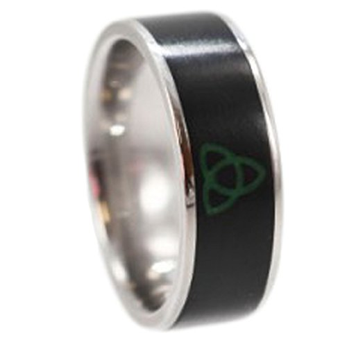 Nephrite Jade with Trinity Knot 8mm Comfort Fit Titanium Band, Size 15.75 by The Men's Jewelry Store (Unisex Jewelry)