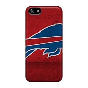 Shock-Absorbing Hard Phone Covers For Iphone 5/5s With Provide Private Custom Nice Buffalo Bills Pattern JasonPelletier hjbrhga1544