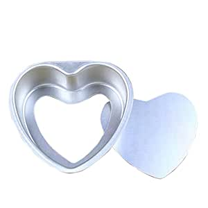 Baking Mold Heart Shape Thick Cake Mold Aluminum Alloy 3 inch