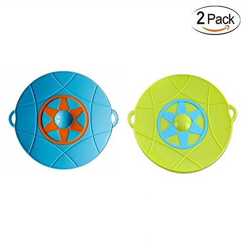 2 Pack Spill Stopper Lid Cover And Spill Stopper, Boil Over Safeguard, Silicone Spill Stopper Pot Pan Lid Multi-Function Kitchen Tool
