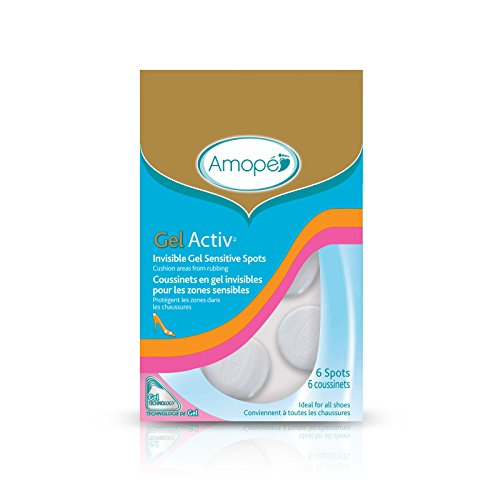 Feet Invisible Gel - Amope GelActiv Invisible Gel Sensitive Spots Insoles for Women, 1 pair, Size 5-10