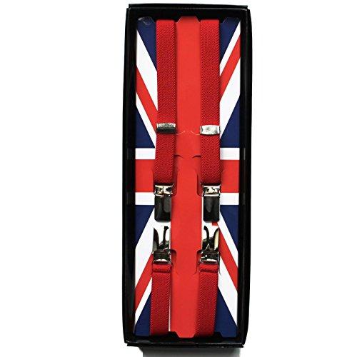 Warrior UK Classic 1/2 Thin Punk Skinhead Mod Suspenders Braces All Colors