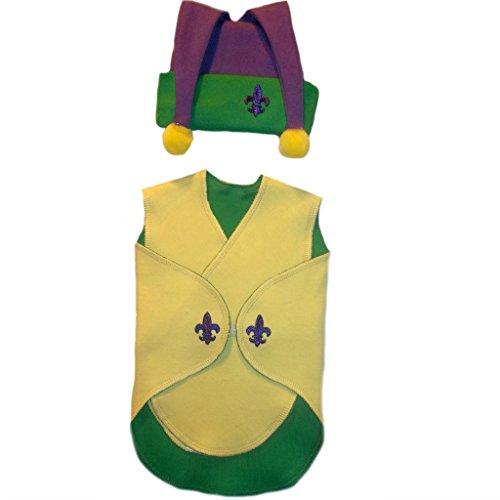 [Jacqui's Unisex Baby Mardi Gras Preemie Snuggler Wrap Set, Preemie] (Mardi Gras Outfit Ideas)