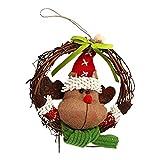 2018 Mini Christmas Santa Claus Doll Pendant Hanging Ornaments for Christmas Tree Decorations Rattan Garland Decoration Pendant Shop Window Props Christmas Party Decor-iShine