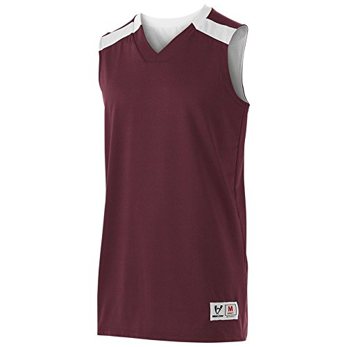 High Five Youth Switch up Reversible Jersey,Maroon/White,Medium