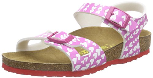 Birkenstock Rio - Sandalias de tobillo Niñas Multicolor - Multicolor (Cute Hearts Rose)