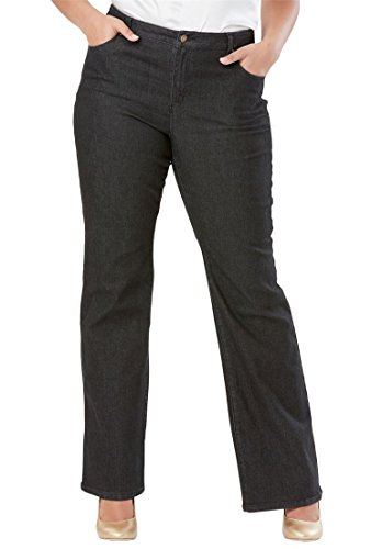 Jessica London Womens Plus Size True Fit Wide Leg Jeans
