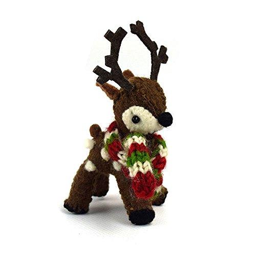 Sweet Baby Reindeer Ornament - Natural or Brown (Brown) One per Order