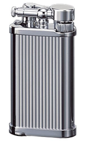 IM Corona Old Boy Pipe and Cigar Lighter Chrome Lines in an Attractive Gift Box Warranty