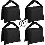 ABCCANOPY Super Heavy Duty Sandbag Saddlebag Design 4 Weight Bags for Photo Video Studio Stand (Black)