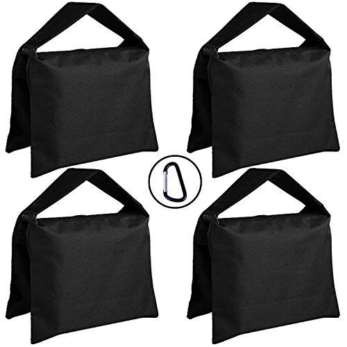 (ABCCANOPY Super Heavy Duty Sandbag Saddlebag Design 4 Weight Bags for Photo Video Studio Stand)