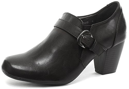 Heeled Shoes Buckle Mid Womens Boulevard Heel Gusset Black wxqd4Ofg
