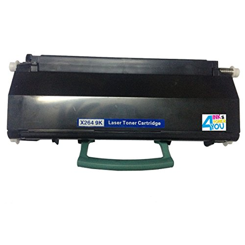 Ink & Toner 4 You Remanufactured Black Laser Toner Cartridge for Lexmark X264H11G X264H21G Works With Lexmark X264, X363, X364 Series Laser Printers - 9,000 Page Yield