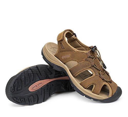 Playa Al Zapatos De Hombre Aire De Transpirable Recortes Sandalias Zapatos Darkbrown Sandalias Libre De Moda wTEvgtq