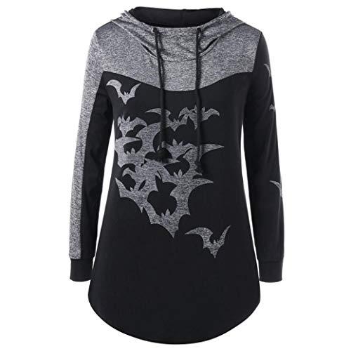 Straight Jacket Costume Australia (URIBAKE Women Halloween Party Bats Print Long Sleeve Hooded Tops Pullover Ladies' Sweatshirt)