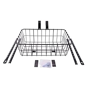 Wald 1372 Standard Medium Front Handlebar Bike Basket Black