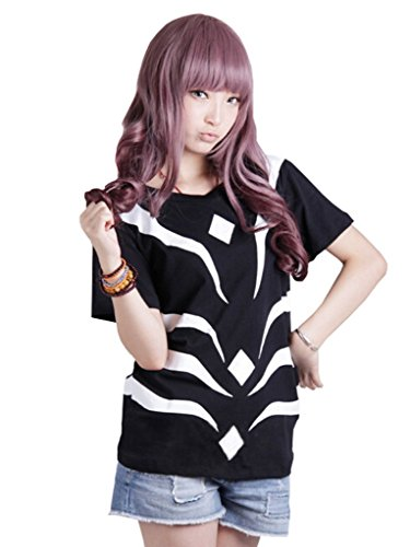 ROLECOS Unisex Short Sleeve Black Reflective Cotton T-shirt Anime Cosplay Blouse (Accelerator Cosplay Costume)