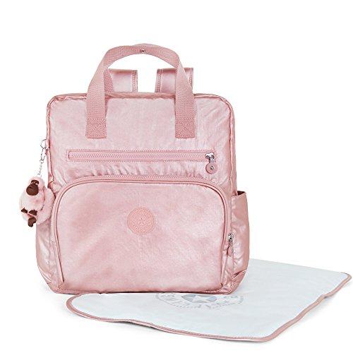Kipling Women's Audrie Metallic Diaper Bag One Size Icy Rose Metallic