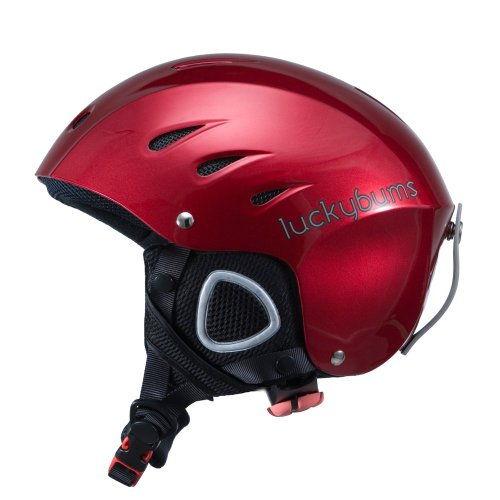 Lucky Bums Snow Sport Helmet with Fleece Liner, Red, Medium - Lucky Bums Snowboard Helmet